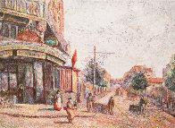 Avenue of the Street Vendor (State I) Limited Edition Print by H. Claude Pissarro - 0