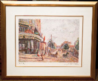 Avenue of the Street Vendor (State I) Limited Edition Print by H. Claude Pissarro - 1