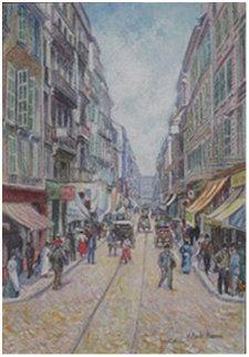 La Rue St. Ferreole a Marseille 2001 15x20 Original Painting - H. Claude Pissarro