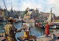 La Lieutenance a Honfleur 2002 33x28 Works on Paper (not prints) - H. Claude Pissarro