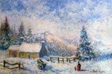 Neige a La Ferme De Marine Sur La Commune De La Mitry Datte Original Painting - H. Claude Pissarro