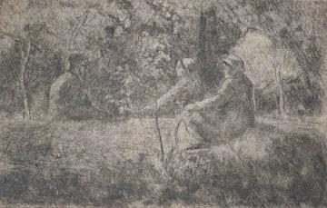 Repos Du Dimanche Dans Le Bois 1891 Limited Edition Print by Camille Pissarro