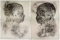 Untitled Set of 2 Etchings Diptych 2019 Limited Edition Print by Jaume Plensa - 0