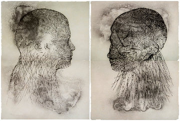 Untitled Set of 2 Etchings Diptych 2019 Limited Edition Print - Jaume Plensa