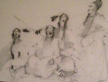 Untitled Drawing 1978 26x36 Drawing - Paul Pletka