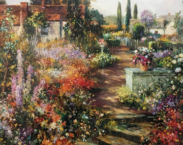 British Garden 1990 Limited Edition Print - Henri Plisson