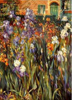 Garden At Giverny 1991 Limited Edition Print - Henri Plisson