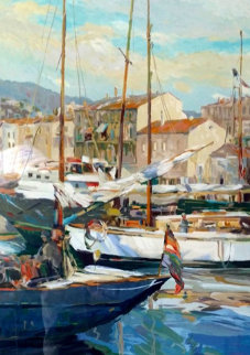Boat Masts 1987 Limited Edition Print by Henri Plisson
