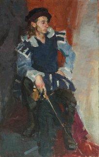 Musketeer 38x24 Super Huge  Original Painting - Roman  Podobedov