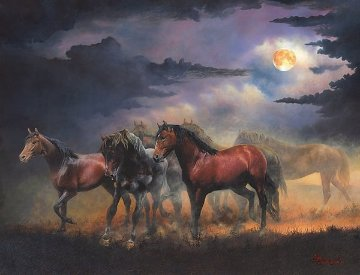 Moon Dancers 76x62 Original Painting - J.F. Policky