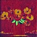 Untitled Still Life 22x22 Original Painting - Jaline Pol
