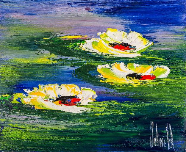 A Fleur D'eau 2018 20x24 Original Painting by Jaline Pol