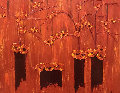 Ephemer Beaute 2002 43x50 Original Painting - Jaline Pol
