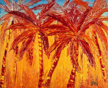Coucher De Soleil Sous Les Tropiques 2017 20x24 Original Painting - Jaline Pol