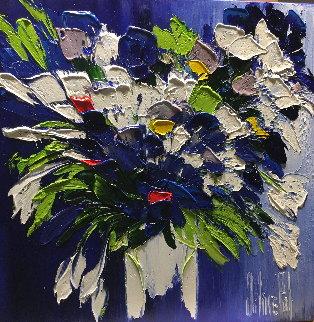 Une Explosion De Bonheur 2017 20x20 Original Painting - Jaline Pol
