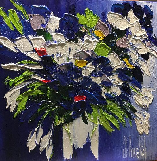Une Explosion De Bonheur 2017 20x20 Original Painting by Jaline Pol