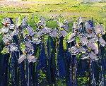 Une Nuee De Beaute 2017 18x15 Original Painting - Jaline Pol