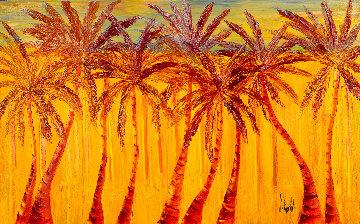 Sous Les Tropiques 2018 36x58 Original Painting - Jaline Pol