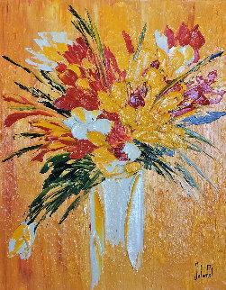 Eclats Du Primkeys 2005 32x37 Original Painting - Jaline Pol