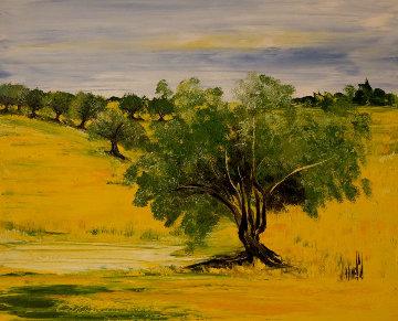 Le Soleil De Nos Vacances 2012 32x39 Original Painting - Jaline Pol
