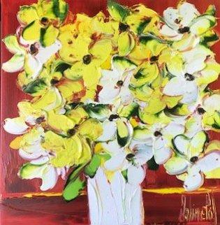 Splendeur Des Fleurs éCloses 2019 16x16 Original Painting - Jaline Pol
