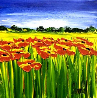 Clin D'oeil De l'été (Summer Wink)  16x16 Original Painting - Jaline Pol