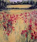 A Perte De Vue, La Nature Er Fleur 2000 23x23 Original Painting - Jaline Pol