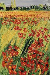Il Est Des Parfums Verts Comme Des Praires 2000 39x23 Original Painting - Jaline Pol