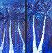 Night Under the Tropics - Set of 2 Paintings 72x38 Original Painting by Jaline Pol - 0