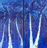 Night Under the Tropics - Set of 2 Paintings 72x38 Super Huge  Original Painting by Jaline Pol - 0