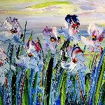 Lumiere Du Printemps 2010 16x16 Original Painting - Jaline Pol
