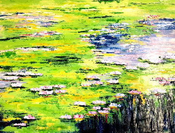 Waters of the Pond Embellished Limited Edition Print - Jaline Pol