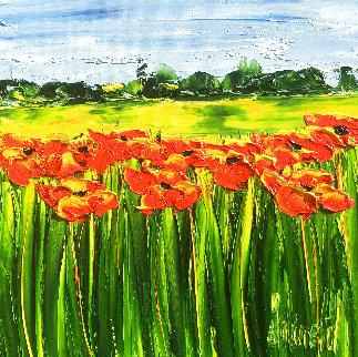 Ete Brulant 2020 16x16 Original Painting - Jaline Pol
