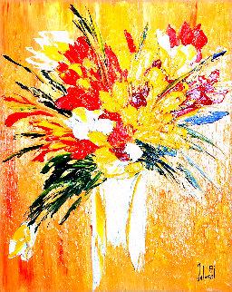 Eclats Du Primkey 2005 37x32 Original Painting - Jaline Pol