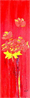 Percuhauts 2005 48x24 Original Painting - Jaline Pol