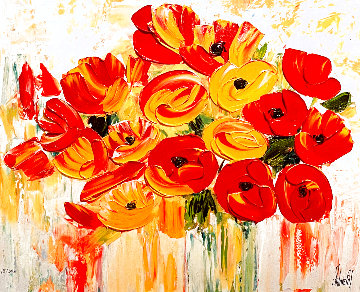 Awash With Color, the Petals Caress and the Flowers Take a Bow Limited Edition Print - Jaline Pol