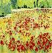 Eruption Florales 1997 38x38 Original Painting by Jaline Pol - 0