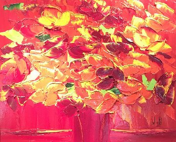 Belles Dejour 22x22 Original Painting by Jaline Pol