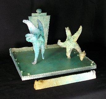 Pele Vs Castillas   Bronze Unique 2016 12 in Sculpture - Michael J. Pollare