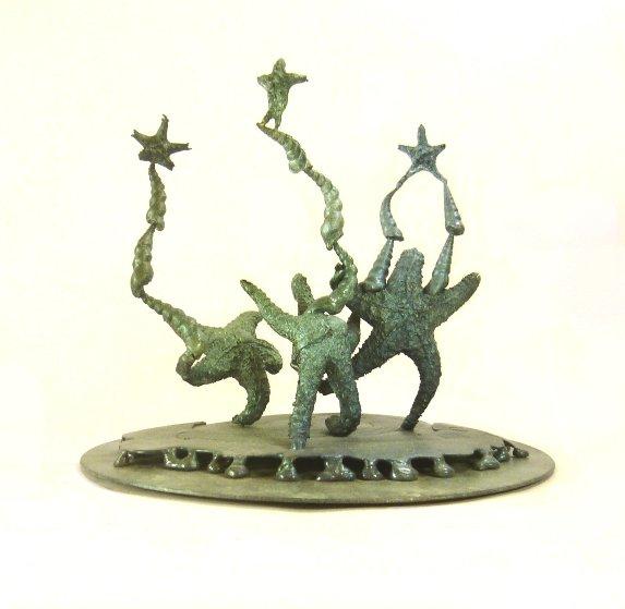 Cirque De Fillet  Bronze Sculpture Unique 2016 15 in Sculpture by Michael J. Pollare