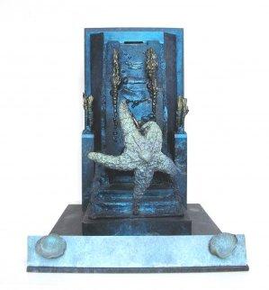 Starfish Alvin on Stage Unique Bronze Sculpture Sculpture by Michael J. Pollare