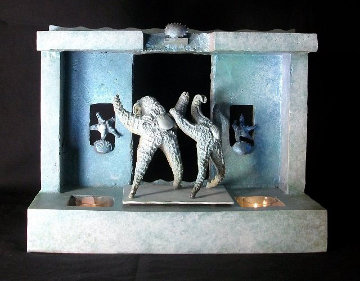 Starfish Luciano And Placido on Stage Bronze Sculpture Unique Sculpture by Michael J. Pollare