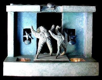Starfish Luciano and Placido on Stage 2016 18 in Sculpture by Michael J. Pollare