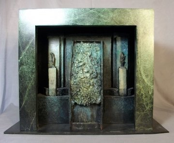 New Cenezoic Unique Bronze Sculpture 2005 18 in Sculpture - Michael J. Pollare