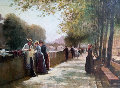 Book Seller By River Seine, Paris, France 2002 19x24 Original Painting - Alexander Popoff
