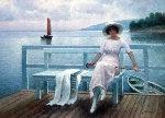 Tranquility 2005  24x29 Original Painting - Alexander Popoff
