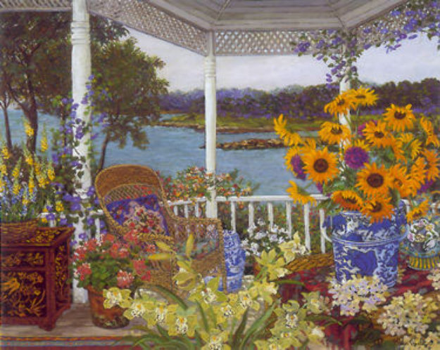On The Veranda 1999 Limited Edition Print by John Powell