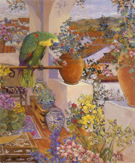 Parrot and Rooftops 1985 Limited Edition Print by John Powell