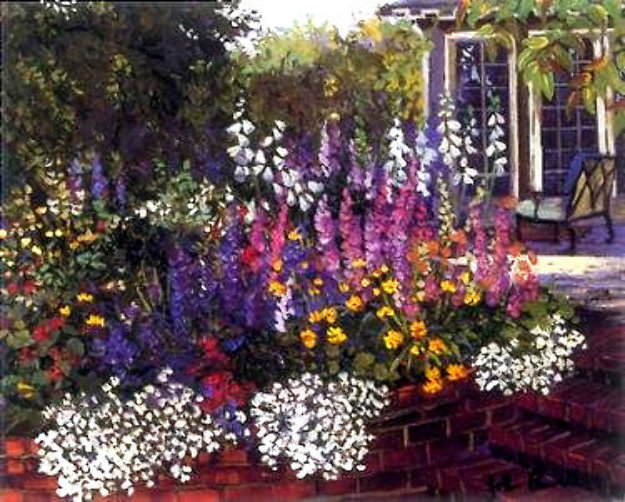 Red Brick Garden PP Limited Edition Print by John Powell