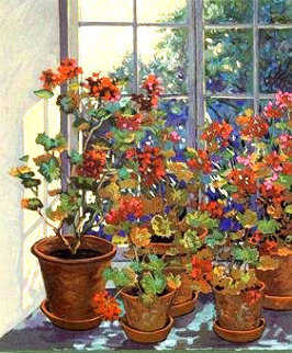 Geraniums PP Limited Edition Print by John Powell